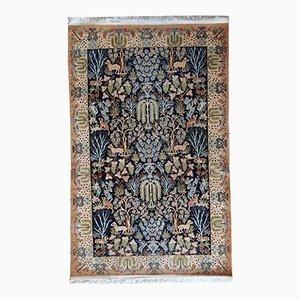 Vintage Handmade Persian Tabriz Rug, 1970s