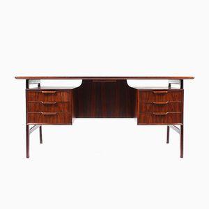 Mid-Century Schreibtisch aus Palisander von Omann Jun, 1950er