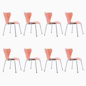 Chaises par Arne Jacobsen pour Fritz Hansen, 1950s, Set de 8