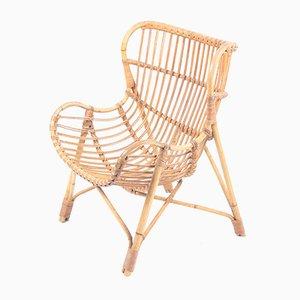 Bamboo Lounge Chair, 1940s