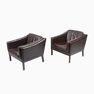 Club Chairs, 1980s, Set of 2