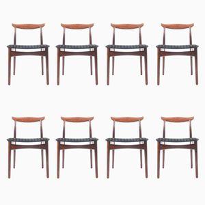 Chaises de Salon en Palissandre de Vamo Møbelfabrik, 1960s, Set de 8