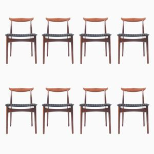 Rosewood Dining Chairs from Vamo Møbelfabrik, 1960s, Set of 8