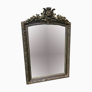 Antique Wood & Gold Stucco Mirror