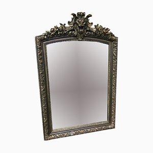 Miroir Antique en Bois et Stuc Doré