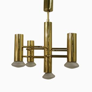 Vintage Chandelier by Gaetano Sciolari for S.A. Boulanger, 1960s
