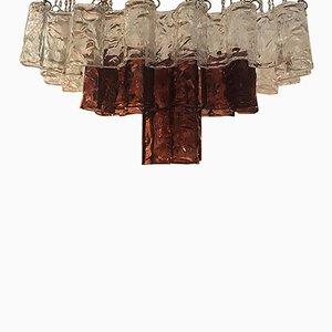 Italienischer Murano Glas Kronleuchter von Mazzega, 1960er