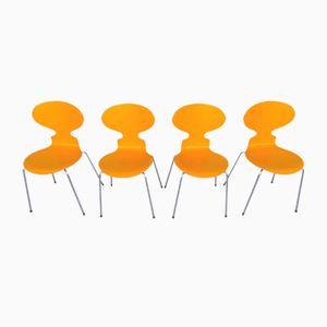 Model 3101 Chairs by Arne Jacobsen for Fritz Hansen, 1980s, Set of 4