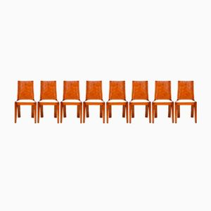 Art Deco Esszimmerstühle aus Walnussholz, 1930er, 8er Set