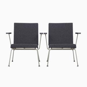 1401 Sessel von Wim Rietveld für Gispen 1950er, 2er Set