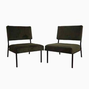 Französische Mid-Century Kamin-Stühle, 1960er, 2er Set