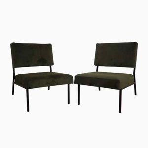 Mid-Century French Fireside Chairs, 1960s, Set of 2