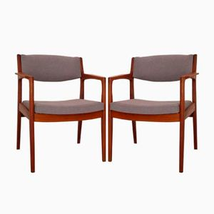 Danish Armchairs by Erik Buch for Orum, 1960s, Set of 2