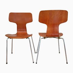 Hammer Chairs by Arne Jacobsen for Fritz Hansen, 1960s, Set of 2