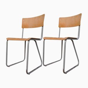 Industrial Chairs by Willem Hendrik Gispen for Gispen, 1950s, Set of 2