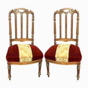 Antike Napoleon III Stühle, 2er Set