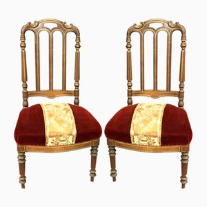Antique Napoleon III Chairs, Set of 2