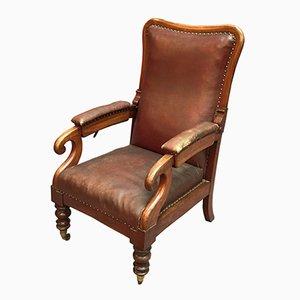 Victorian Mahogany Reclining Armchair