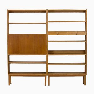 Blond Oak Bookcases by Bertie Fridhagen for Bodafors, 1964