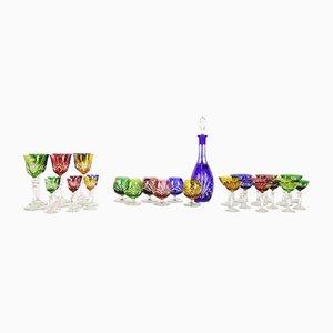 Set di brocca e bicchieri in cristallo di Nachtmann, anni '70