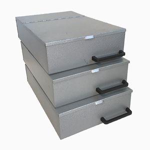Metal Boxes, 1970s, Set of 3
