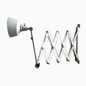 Grande Lampe à Ciseaux Blanche par Curt Fischer pour Midgard
