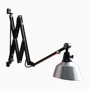 Vintage Black Scissor Lamp by Curt Fischer for Midgard