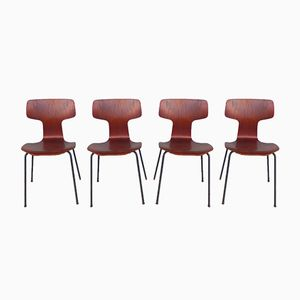 3103 Hammer Chairs by Arne Jacobsen for Fritz Hansen, 1960s, Set of 4