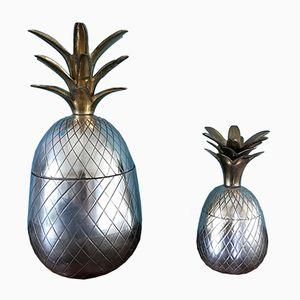 Ananas Eiskübel oder Kerzenhalter, 1970er, 2er Set
