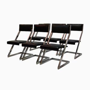 Vintage Chrom Stühle, 1970er, 6er Set
