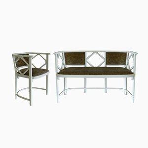 Banc & Chaise de Cabaret Vintage par Josef Hoffmann pour Thonet