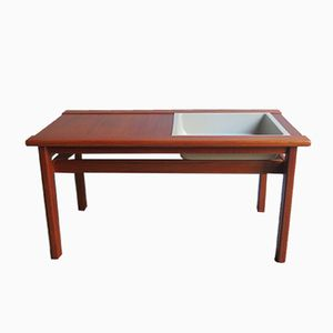 Vintage Danish Teak Table with Plant Container