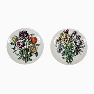 Vintage Italian Porcelain Plates by Atelier Fornasetti, Set of 2