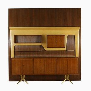 Unité de Rangement Vintage en Acajou par Gambarelli, 1958