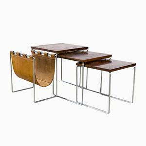 Dutch Nesting Tables from Brabantia, 1960s, Set of 2