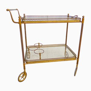 Vintage Brass Trolley from Maison Bagues, 1950s