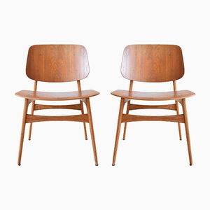 Model 155 Søborg Chairs by Børge Mogensen for Fredericia, 1950s, Set of 2
