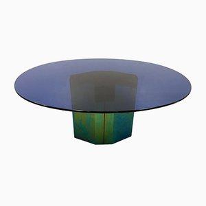 Table Polygone Bleue par Afra et Tobia Scarpa pour B&B Italia, 1985