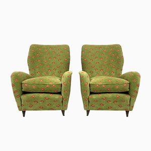 Italienische Sessel mit Konischen Beinen, 1950er, 2er Set