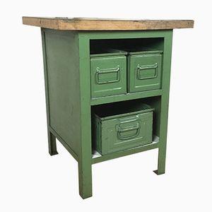 Vintage Industrial Green Metal Cabinet, 1970s