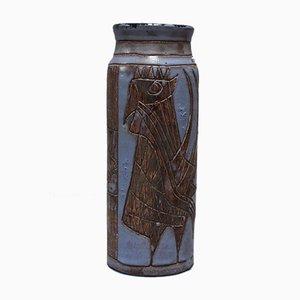 Vaso grande in ceramica di Jacques Pouchain per Atelier Dieulefit, anni '50