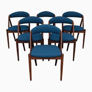 Chaises d'Appoint Modèle 31 par Kai Kristiansen pour Schou Andersen, 1960s, Set de 6