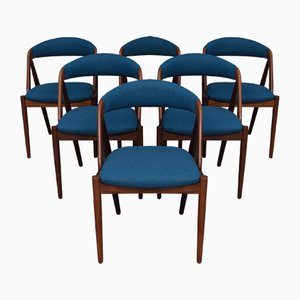 Model 31 Side Chairs by Kai Kristiansen for Schou Andersen, 1960s, Set of 6