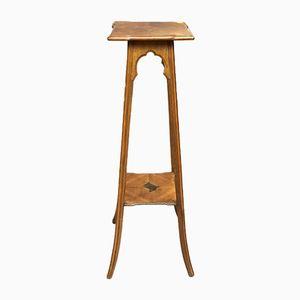 Antique Art Nouveau Walnut Side Table