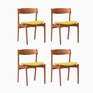 Dining Chairs by Erik Buch for O.D. Møbler, 1957, Set of 4