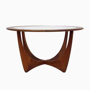 Tavolino da caffè rotondo Astro Mid-Century in teak e vetro di Victor Wilkins per G-Plan