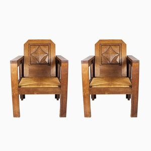 Armchairs by Joseph Savina, 1940s, Set of 2