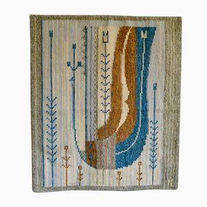 Skandinavischer Vintage Wandteppich aus Wolle