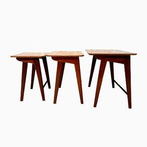 Vintage Dutch Teak Nesting Tables