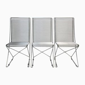 Kreuzschwinger Chairs by Till Behrens for Schlubach, 1983, Set of 3
